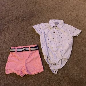 Children's Place outfit with removable belt